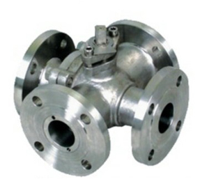 Cast Ball Valves, WCB, DN25, PN150, 4-Way