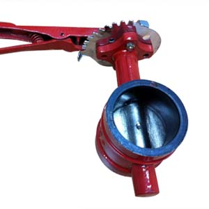 Ductile Iron Grooved Butterfly Valves