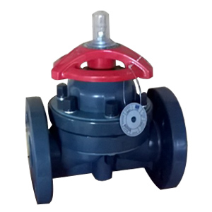 UPVC Diaphragm Valves, DN50, PN20, FF, CS